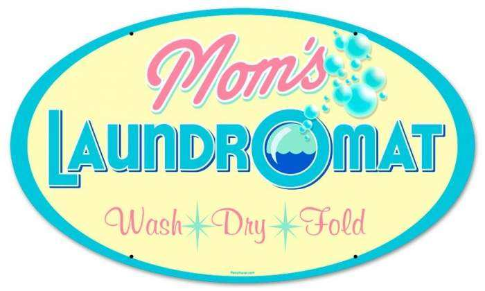 Enter To Win 1 Retro Moms Laundry Round Tin Sign Ends 01