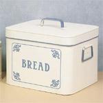 White blue Bread Bin